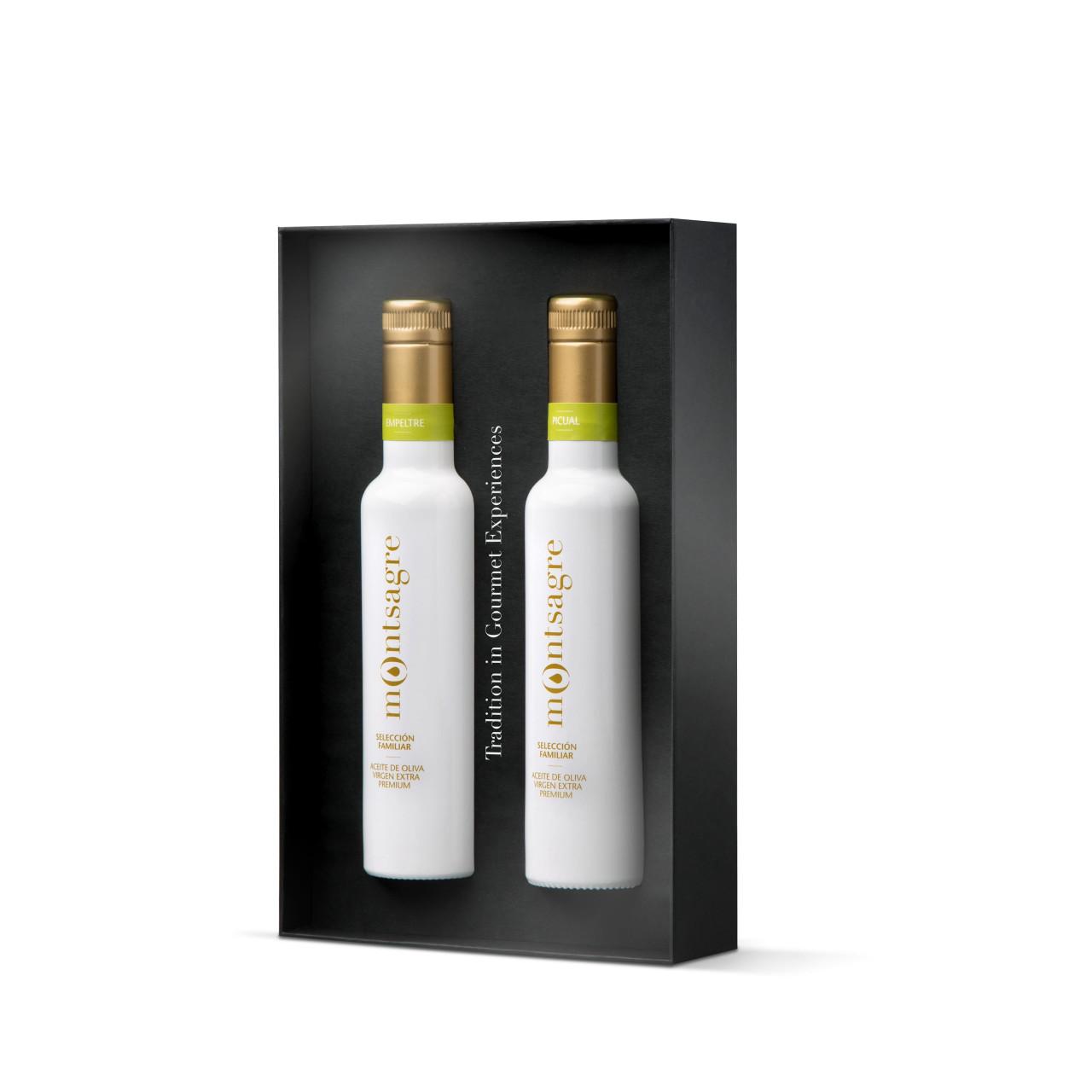 Geschenkset: Premium-Olivenöl (2x 250 ml)